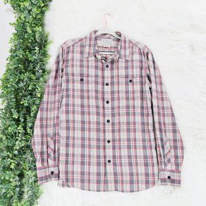 Lucky Brand Cotton Plaid Long Sleeve Button Up M
